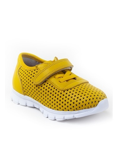 minipicco Minipicco Unısex Sarı Deri Ortopedik Destekli Spor Ayakkabı Sarı